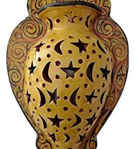 Etnico Arredo Applique da Parete Lampada Lanterna in Terracotta Marocco MAROCCHINA Giardino Esterno 1203190841