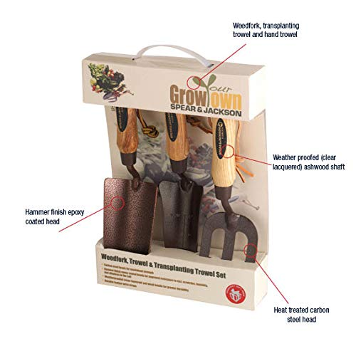 Spear & Jackson ELEMENTS3PS Kit da Giardinaggio, 3 Pezzi, Gamma Elements