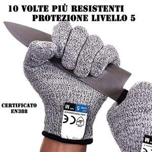 Guanti Antitaglio Guanti da Lavoro protezione livello 5 Guanti da cucina resistenti al taglio Guanti giardinaggioFai da te livello alimentare certificato EN388 taglia universale