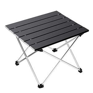 Ledeak Tavolo da Campeggio Leggero Pieghevole in Alluminio Portatile con Borsa da Trasporto Tavolino per allaperto per Picnic Spiaggia Escursionismo Viaggi Pesca