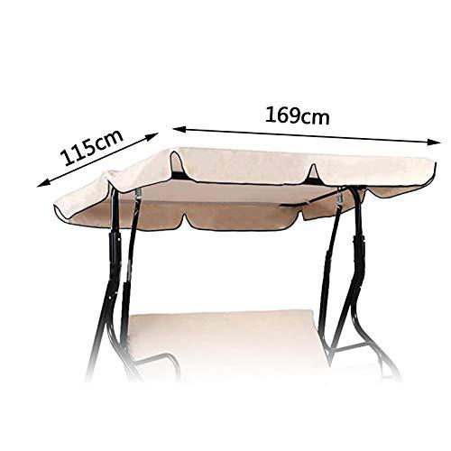 OTOTEC Copertura per Dondolo da Giardino e Amaca 197 x 110 cm 192 x 133 cm 169 x 115 cm Beige 169x115cm