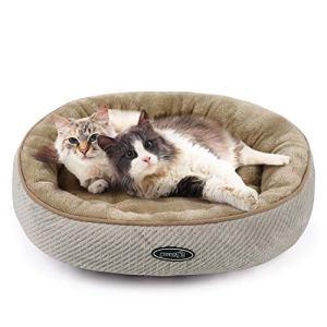 Pecute Cuccia per Gatti e Cani Realizzato in Fondo Antiscivolo di PVC Letto Morbido Confortevole per Animali DomesticiM