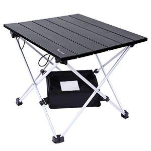 Sportneer Tavolo da Campeggio Leggero Pieghevole in Alluminio Portatile con Valigetta e Borse di stoccaggio Tavolino per allaperto per Picnic Campeggio Spiaggia Escursionismo Viaggi Pesca S