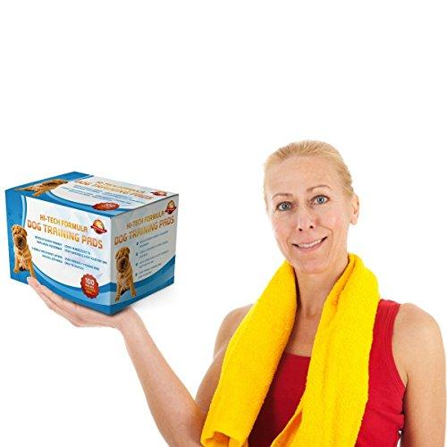 Tappetini Assorbenti Per Addestramento Cuccioli 100 5 Extra GRATIS  60 cm x 60 cm Nuove Dimensioni Super Assorbenti  Questa Nuova Soluzione Esclusiva A 5 Strati Protegge Pavimenti Laminati E Tappeti Dal Cattivo Odore