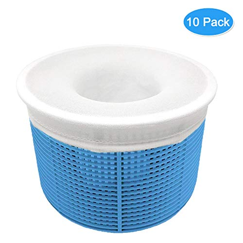 Aiglam 10 Pezzi Calzini da Skimmer per Piscina Calze da Filtro per Piscina per Skimmer per Filtro Fodera in Rete Ultra Fine per Cestello da Piscina