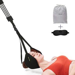 Amaca per Trazione CervicaleMercase Dispositivo di Trazione del Collo CervicaleDurevoli e Cinghie Regolabili per Alleviare Il Dolore Alla Spalla del Collo Rilassamento Muscolare d Mal Di Testa