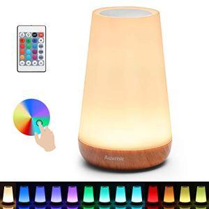 Auxmir Luce Notturna Bambini Lampada da Comodino Colorata Lampada LED con 13 Colori Luminosit Regolabile 3 Modi di Illuminazione Batteria al Litio Ricaricabile Portabile