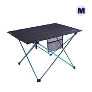 Azarxis Tavolo da Campeggio Pieghevole in Alluminio Tavolino da Barca Picnic BBQ Camping Spiaggia Giardino Pesca M  70 x 50 x 45cm