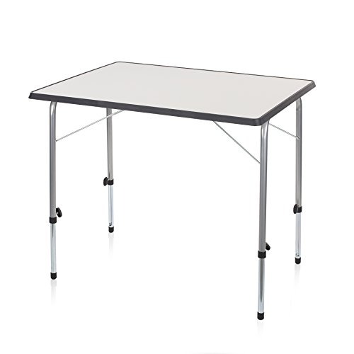 Campart Tavolino da Esterni TA0831 Tavolo Grigio 80 x 60 cm