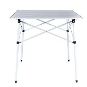 Cao  Tavolo a stecche pieghevole e arrotabile in alluminio