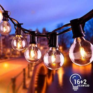 Catena Luminosa Lampadina 68M Stringa di Luci Esterno e Interno con 16 LED Lampadine e 2 Lampadine di Ricambio Impermeabile illuminazione Giardino per Caff Giardino Gazebo Terrazzo