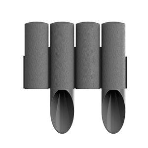 Cellfast Standard 4 palizzata del giardino marronegrafite Altezza 255 cm  Lunghezza 23 m grafite