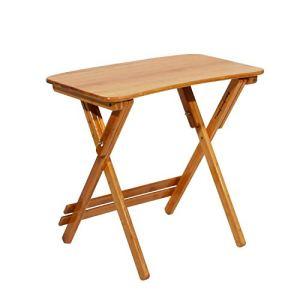 DlandHome Piccolo Tavolo da Pranzo Pieghevole per Esterni Patio Giardino tavolino da caff in Legno 70 x 39 x 6278 cm