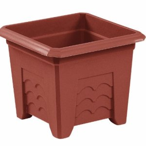 Emsa Terra Grande 985401400 Vaso per Fori con Angoli 40x40 cm Colore Terracotta