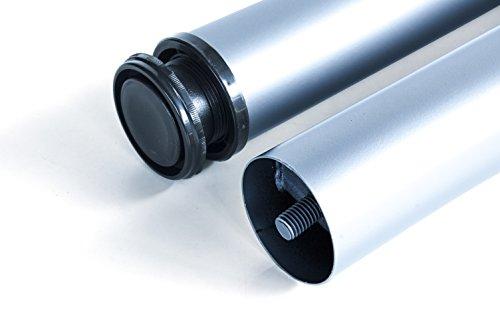 Emuca  Gambe regolabili per tavolo 60x710mm kit di 4 piedi per tavolo in acciaio altezza regolabile 710730mm grigio metallizzato