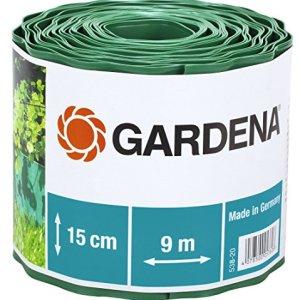 Gardena 53820 Recinzione per Prato Altezza 15 cm Delimitazione Ottima per il Prato Idonea anche per Aiuole Plastica di Alta Qualit Verde 9 m