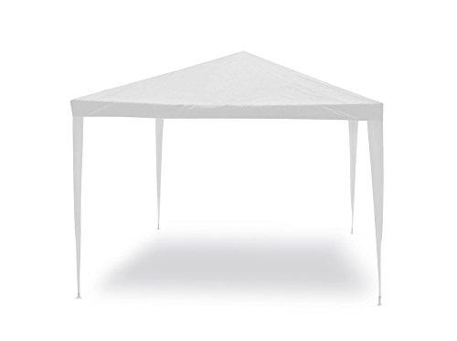 Gazebo facile bianco 3x3 m Struttura in acciaio copertura in pe 110 grm