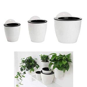 HPiano Vasi da Fiori appesi in plastica Set da 3 appesi Assorbimento Automatico dellAcqua Secchio di Fiori Balcone Recinzione Ornamenti da Giardino di casa Fioriere da Appendere a Parete