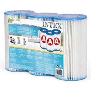 Intex 29003 Cartuccia Filtro per Pompe Filtro Clorinatore Combo Confezione da 3 Cartucce