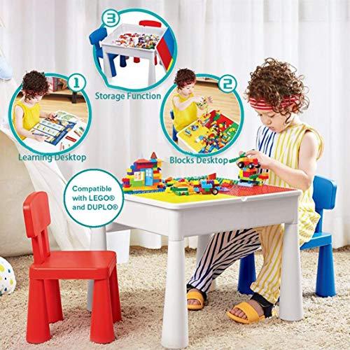 Kublo Set Di Tavolo Da Gioco E 2 Sedie Per Bambini Multifunzione 5 In 1 Arredamenti Per Il Giardino