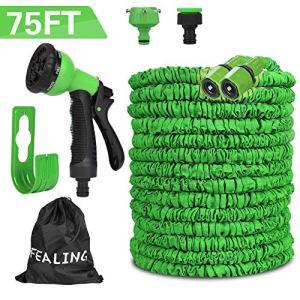 Mgrett  Tubo flessibile da giardino 225 m flessibile flessibile con 8 funzioni per lavaggio auto irrigazione del prato