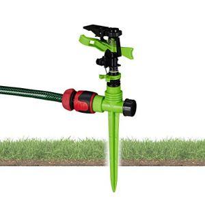 Relaxdays Irrigatore a Impulso da Giardino Circolare Irrigazione Grandi Superfici Fino a 530 m Raggio 13 m 360 Verde 150 7
