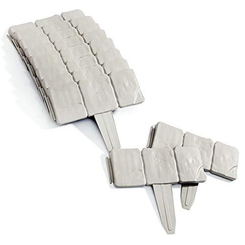 Soldela  Set di 10 moduli da giardino effetto pietra 25 metri lineari in plastica resistente