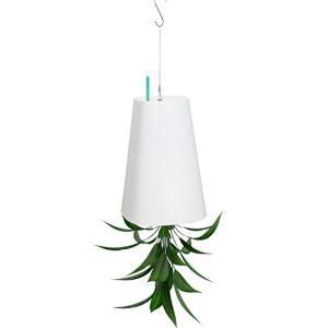 Ulikey Sky Planter Vaso da Appendere sotto sopra Vaso da Fiori Pianta in Plastica per Appendere Giardino di casa Ufficio Appeso pentola pianta Coperta Decorazione Esterna Bianco