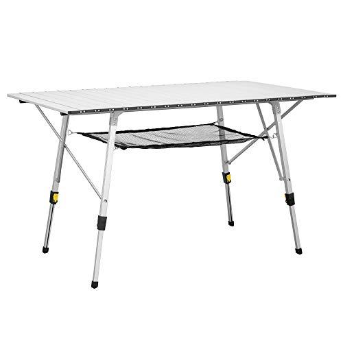 Pieghevole in Alluminio Portatile con Valigetta e Borse di stoccaggio Viaggi Tavolino per allaperto per Picnic Sportneer Tavolo da Campeggio Leggero Pesca Spiaggia Campeggio Escursionismo