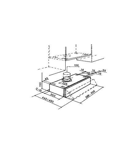 FABER 152 LG A60 Cappa aspirante sottopensile da 60 CM 190m3h  2 FILTRI CARBONE compresi nel Kit Classe di efficienza energetica D