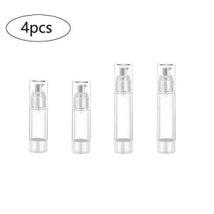 4 Pezzi Flaconi Spray 30 ml e 50 ml Atomizzatore Riutilizzabile Trasparente Bottiglie di Plastica Spray Bottigliette da Viaggio Set per Fondotinta Essenze Lozione Oli Essenziali Profumi