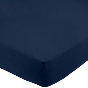 AmazonBasics  Lenzuolo con angoli in microfibra 90x200x30cm Blu scuro