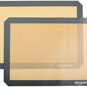 AmazonBasics  Tappetini da forno in silicone Set da 2 pezzi