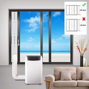 Aozzy PVC Guarnizione Regolabile per Porte per Condizionatore PortatilePer Tutti i tipi di Condizionatori Portatili Guarnizione Universale per Porte 8764con Adattatore 59