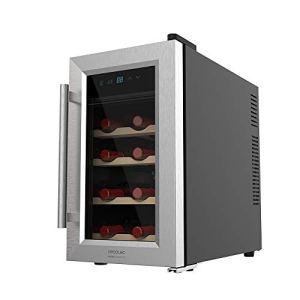 Cecotec Vinotecas da 816 bottiglie  Design porta in vetro pannello touch e schermo LED Legno 8 Botellas