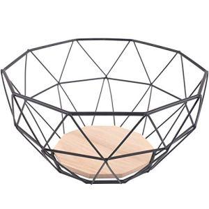Cestello per frutta Chefarone  fruttiera da per avere pi spazio sul piano di lavoro  feffetto decorativo per lo sguardo sul bancone della cucina 26 x 26 x 12 cm