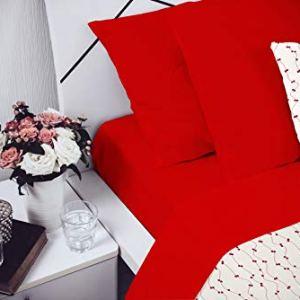 Elegant Cl El Rosso 2Pst Completo Letto Microfibra Matrimoniale 250 x 280 cm 4 unit