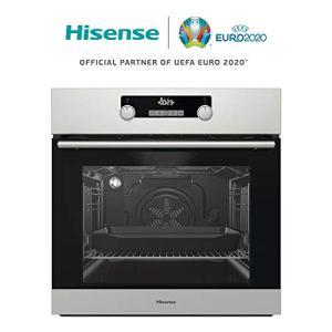 Hisense BI5229PX Forno Multifunzione Termo Ventilato Pirolitico Cavit 70L 11 Funzioni Classe A Display Led Touch Control Acciaio Inox