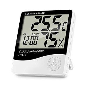 Lanhiem Igrometro Termometro Digitale Monitor Umidit da Interno Temperatura Digitale accurate termometro digitale con sveglia  facile da leggere display LCD per home office comfort