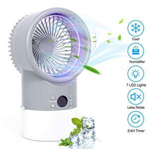Mini Condizionatore Portatile TedGem Raffreddatore Daria 4 in 1 Aria Climatizzatore Portatile Climatizzatore Offerta Umidificatore 3 Velocit 7 LED Air Cooler per Casa UfficioRumore Basso