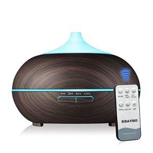NEWKBO 550ml USB Diffusore Atomizzatore di Essenze e Aromi SD UltrasuoniUmidificatore con 7 Colori LED SelezionabiliPurificatore Aria per YogaCamera da LettoSoggiornoSale Conferenza Profondo