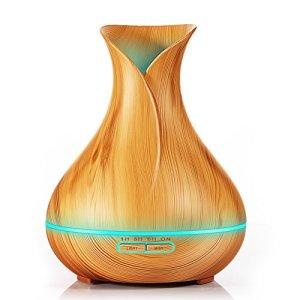 Newkbo Diffusore di Aromi 400ml Diffusore di Olio Essenziale Ultrasuoni Vaporizzatore 7 Colori LED Purificatore aria Diffusore essenze Controllo per Vaporizzazione e Illuminazione