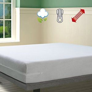 Savel Coprimaterasso in Spugna Elasticizzata 100 Cotone Colore Bianco  Matrimoniale 160x200cm