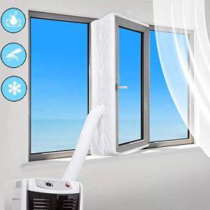 Sinwind 400CM Guarnizione Universale per Finestre per Condizionatore Portatile per Tutti Condizionatori Portatili Facile da Montare  con Zip Chiusura a Strappo
