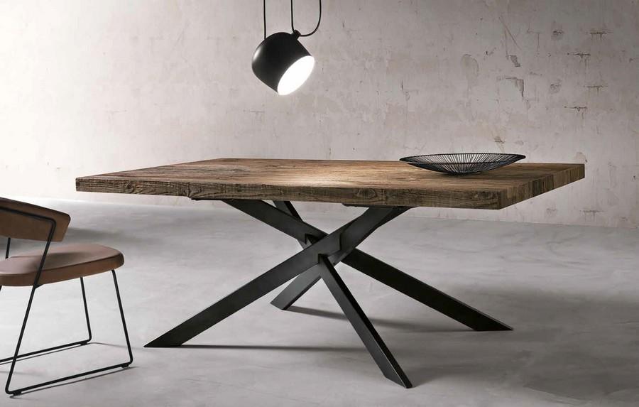 Confronta con altri prodotti rimuovi. Tavolo Moderno Dave In Legno E Struttura In Metallo