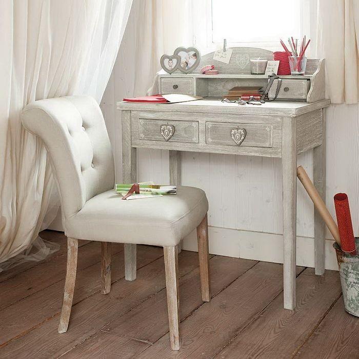 Solid acacia and resin wicker garden armchair in 2020 Sedie E Poltrone Shabby Chic Da Maison Du Monde Arredamento Provenzale