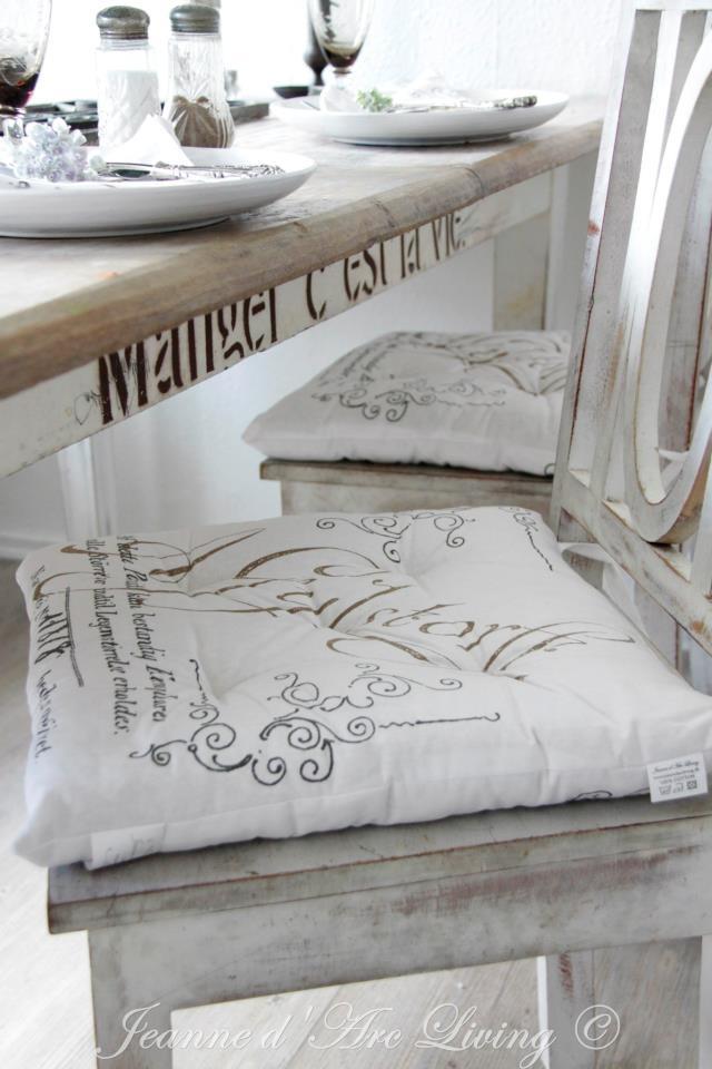 Concrete pastries encourage il favoloso cuscino per sedia di angelica home & country della collezione rose couture | cuscini per sedia,. Cuscini Shabby Chic Per Le Sedie Della Cucina Arredamento Provenzale