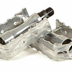 Coppia Di Alluminio Pedali Asse Retro Vintage Per Bicicletta 3194pl Argento Cromato