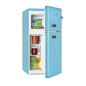 KLARSTEIN Irene  Frigorifero con Congelatore Frigorifero Retr Freezer da 61 Litri Congelatore da 24 Litri Rumorosit 40 dB 2 Livelli di Raffreddamento 2 Ripiani Porta Blu