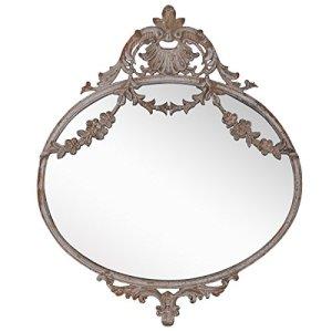 NIKKY HOME 265CM Specchio da Parete in Metallo Vintage a Sospensione Vecchio Stile per la Decorazione Domestica